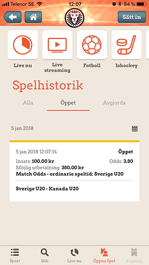LeoVegas betting steg 3